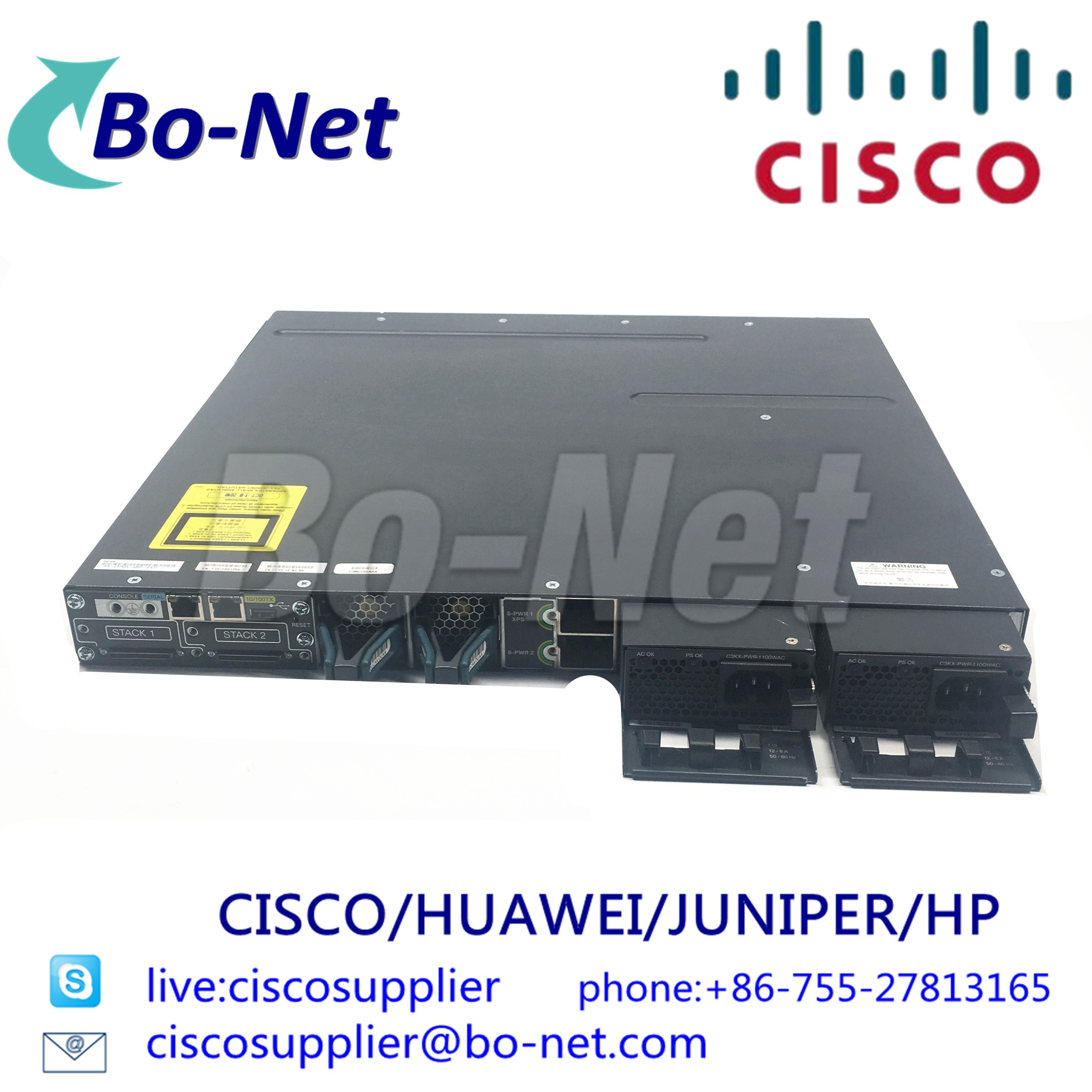 CISCO WS-C3750X-48PF-S network switches Cisco select partner BO-NET