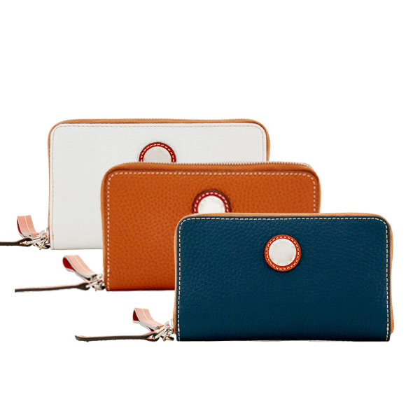 classic brand logo slim wallet phone purse with card holder for women