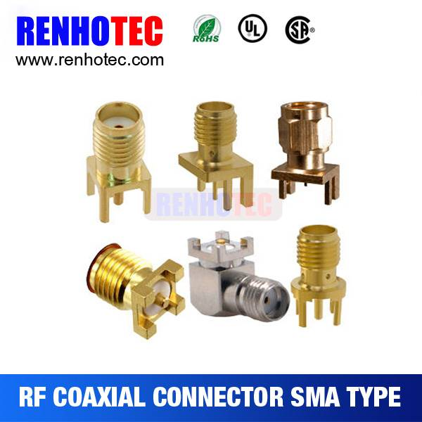 SMA Male Plug Mount Straight RF Coaxial Connector
