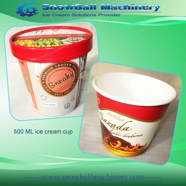Printed ice cream paper pot