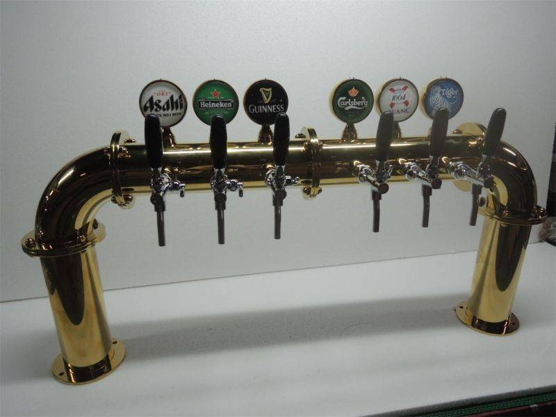 Arch Beer Cooler with 6 Taps