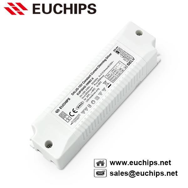 20W 300/500/700mA DALI & 0-10V led driver constant current EUP20AD-1WMC-0