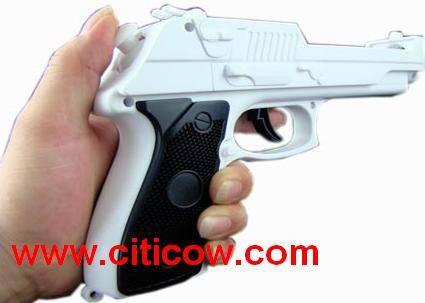 Wii pistol with nunchuck inside, Wii gun