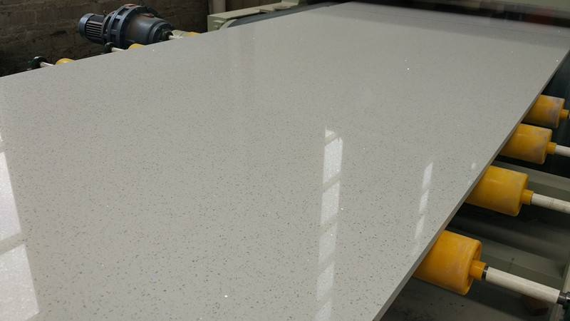 White Mirror Quartz Stone Solid Surface