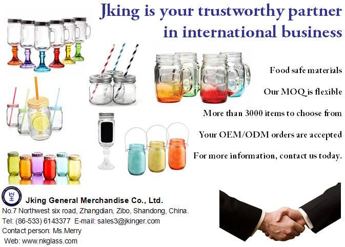 Hot Sell Glass Mason Jar-Jking