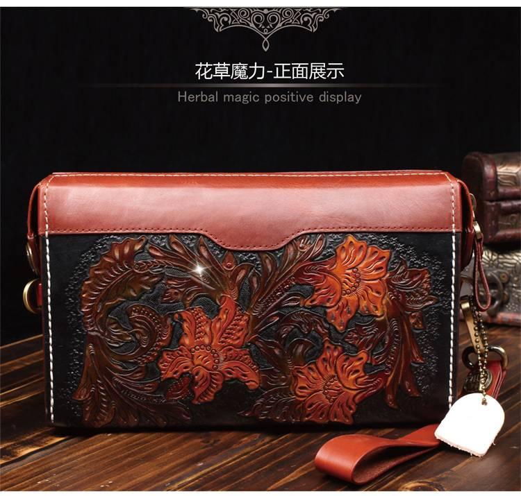 2015 100% genuine leather man bags 100% handcarving messenger man bag