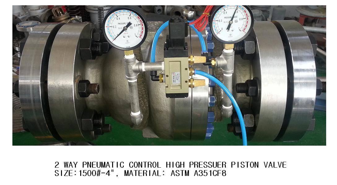 2 WAY PNEUMATIC CONTROL HIGH PRESSUER PISTON VALVE