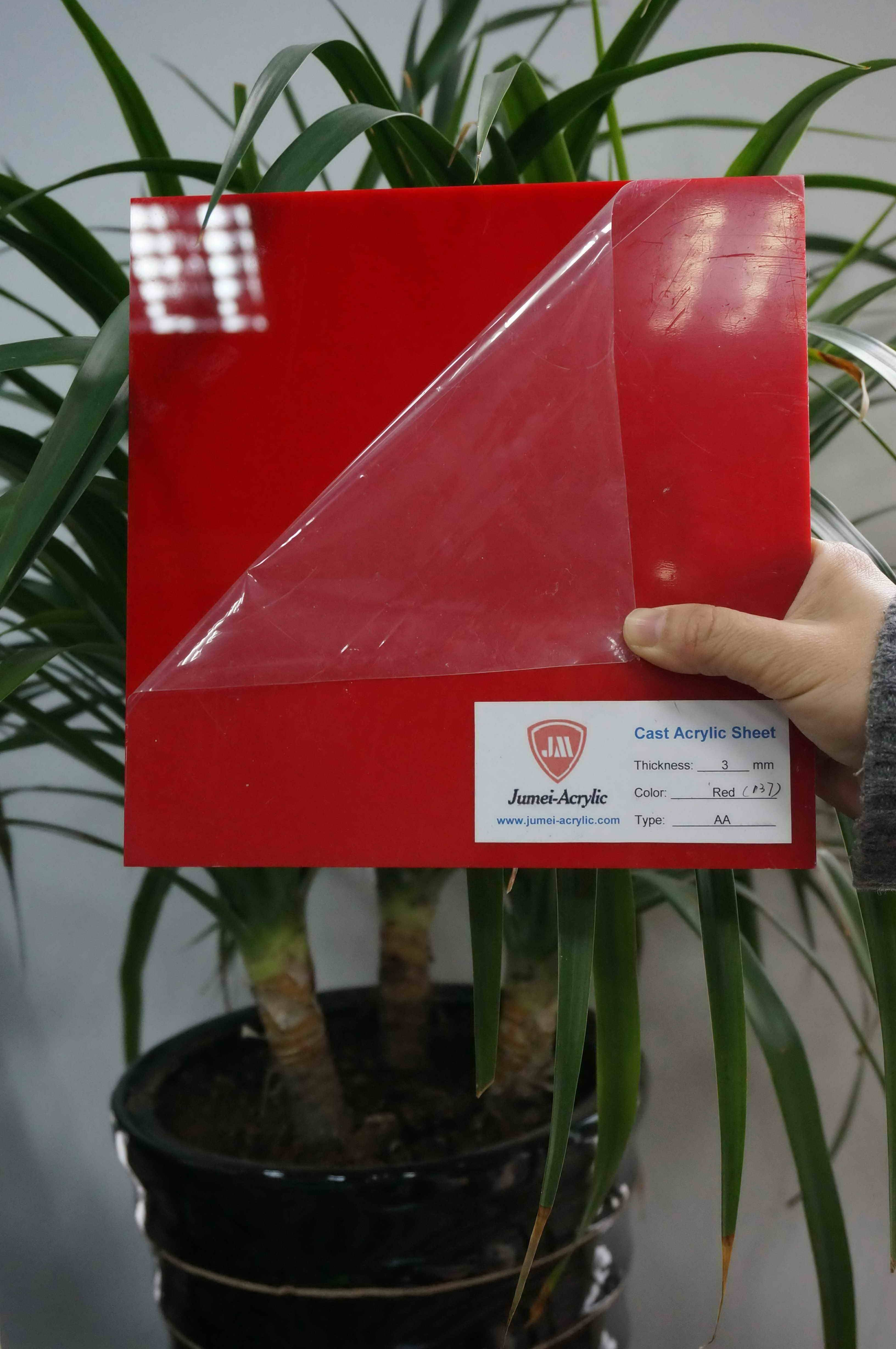 Excellent red PMMA sheet