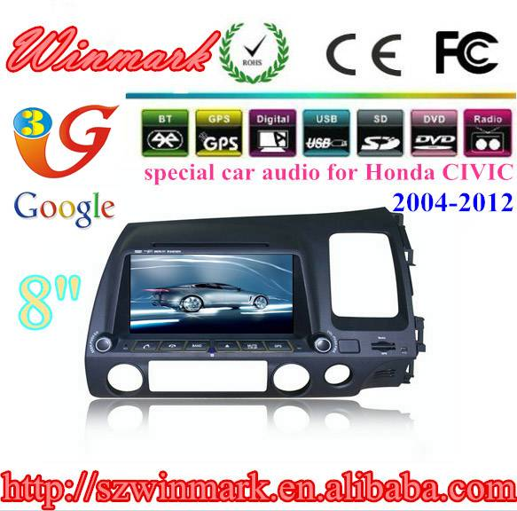 8 inch 2 din car dvd player for honda civic right side DH8007