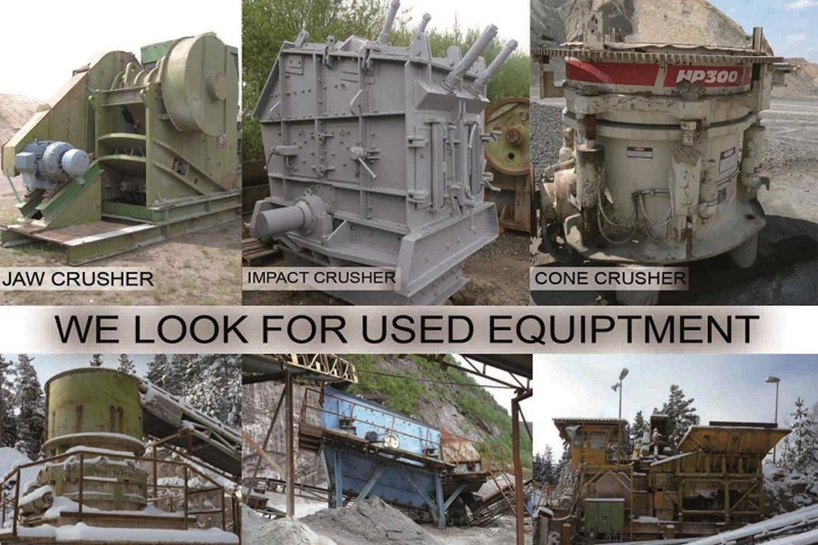 look for used crushing equipment