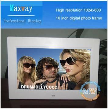 1024600 high Resolution 10 inch photo frame digital