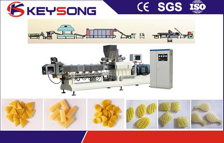 3d Snack Pellet Food Machine , Corn Wheat Flour Snack Pellet Mahcine