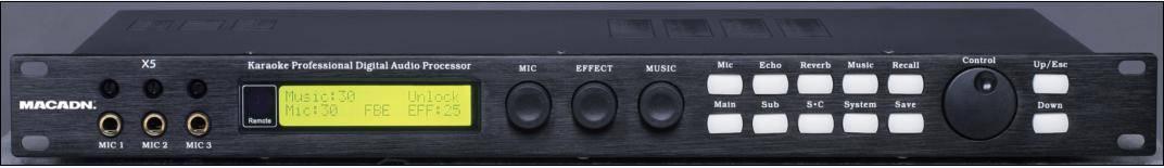 X5 Audio Effects Processor