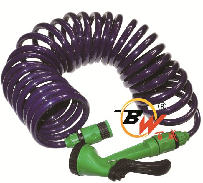 10mm Retractable Spring Spiral Coiled EVA garden irrigation hose