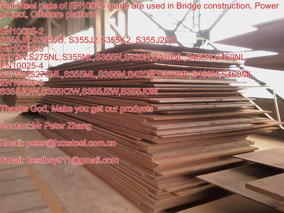 Sell :Spec EN10025-3 steel plate,Grade,S275N,S275NL,S355NL,S355N,S420N,S420NL,S460N,S460NL steel