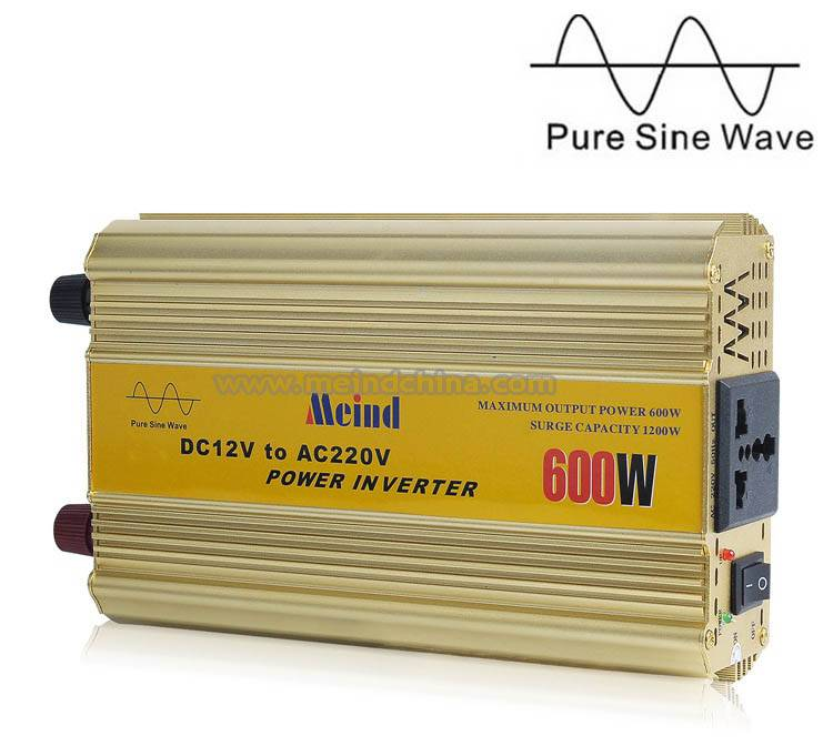 600W Power Inverter Pure Sine Wave AC converter Car Inverters Power Supply AC Adapter Car Charger