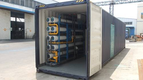 Containerized Reverse Osmosis System Sea Water Treatment Plant