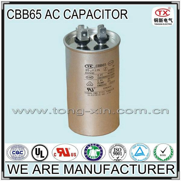 2014 Hot Sale Good Quality CBB65 AC MOTOR CAPACITOR