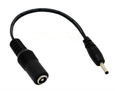 3.5 x 1.3 mm Male Plug to 5.5 x 2.1mm female socket DC Power Adapter cable