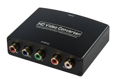 HDMI to YPbPr converter with R/L Audio Converter