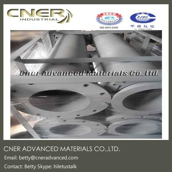 Silicon carbide lined ceramic steel pipe