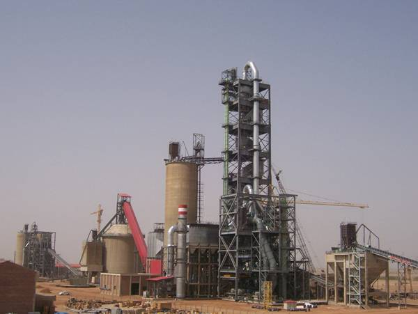 2000tpd cement rotary kiln production line