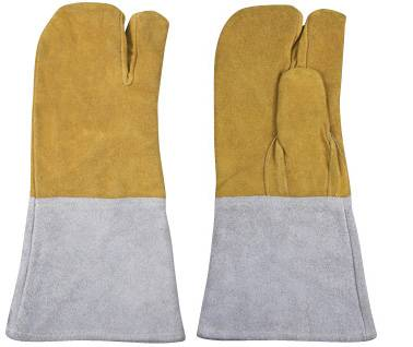 cow split leather gloves\working gloves