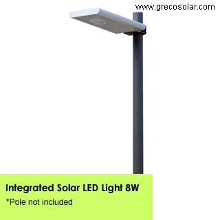 Integrated Solar Garden Lights 8 Watt, Solar Garden Lights with Light Sensors