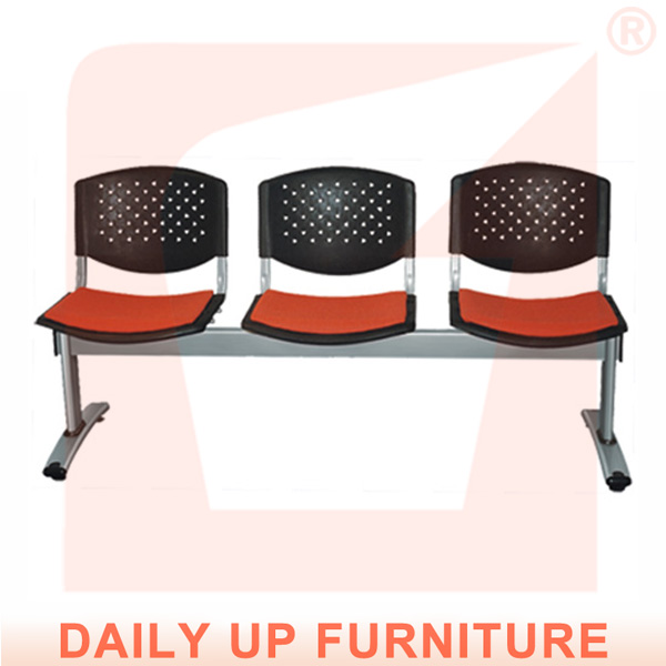 Public Waiting Chair With Padded Seater 3 Seater Link Chair Lobby Reception Chair