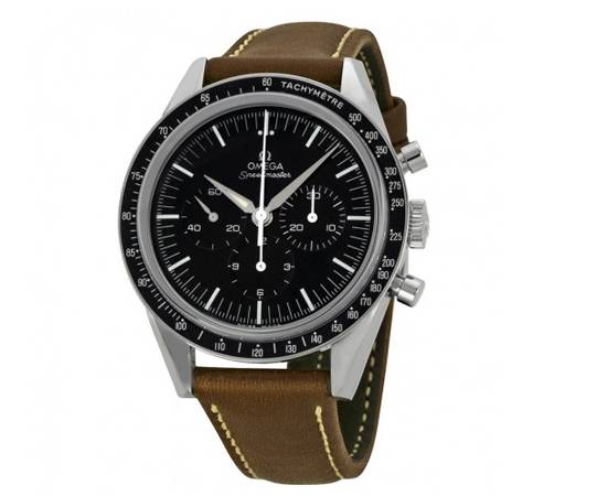 OMEGA Limited Edition Speed master Moon watch Brown Leather Men's Watch