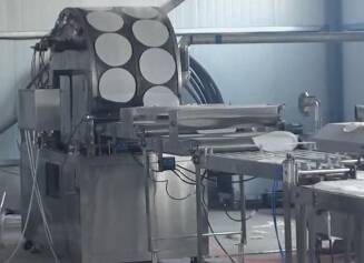 spring roll sheet forming machine