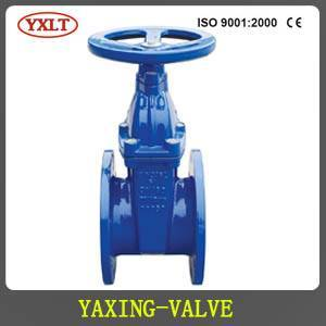 Ductile iron DIN3352 F4 resilient seated gate valve