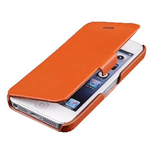 Genuine leather flip case for Iphone 5S
