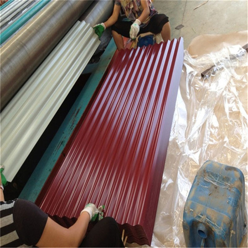 Blue Color Corrugated Prepainted Steel Roofing Plate with Competive Price