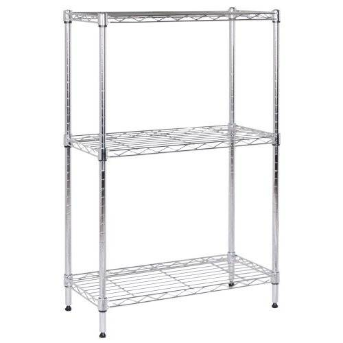 selling 3 tier light chrome wire shelving
