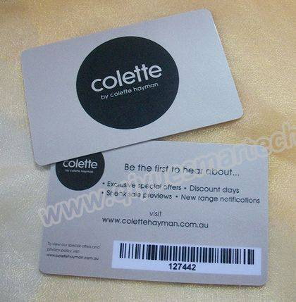 Discounting Plastic Barcode Card