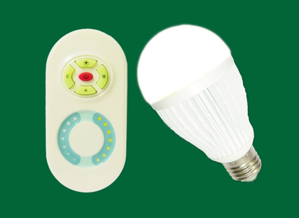 Color temp,dimmable led bulb 2.4G RF wireless