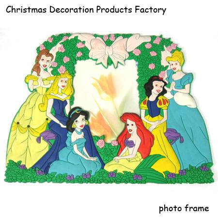 Promotion Disney soft pvc photo frame with plastic frame