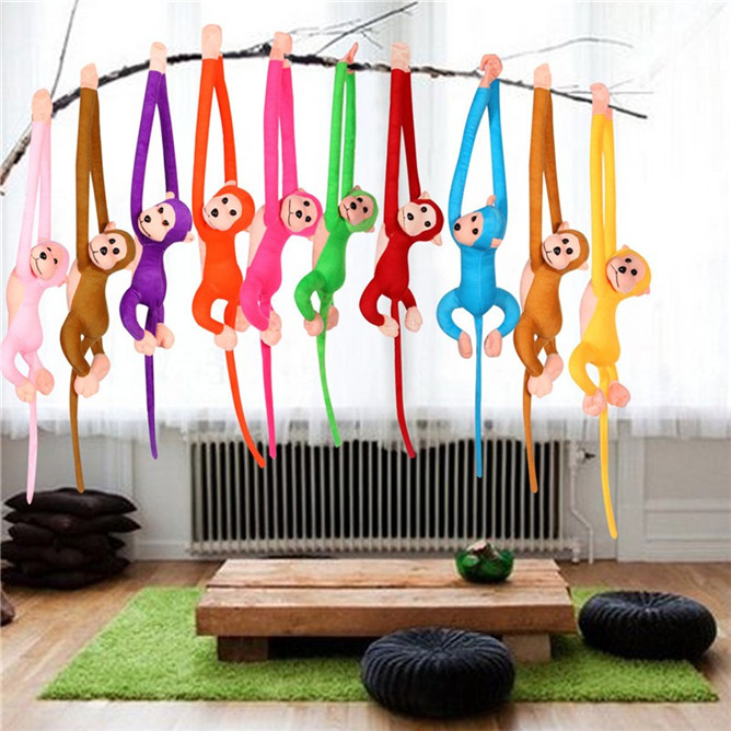 60cm Hanging Monkey Long Arm Plush Baby Toys Doll Kids DS-MK001