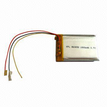 Lithium Polymer Battery with 3.7V Nominal Voltage Used in Wireless Telecommunications