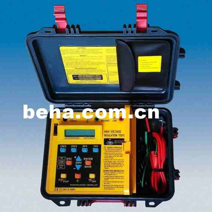 15kV Digital High Voltage Insulation Resistance Tester 97015
