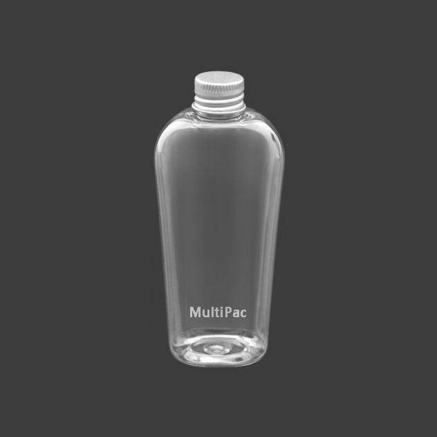 120ml oval clear PET bottle with alu screw cap, for skin care products