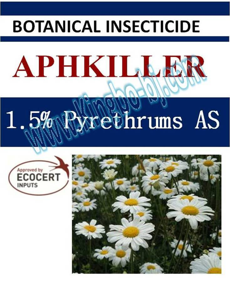 1.5% Pyrethrin AS, biopesticide, botanic insecticide, organic, natural