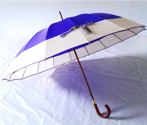 YS-6027Pongee16Panels Fabric in Two Solid Color Combination Golf Umbrella