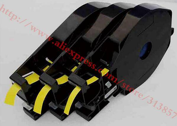 Ink Ribbon Printer Label Tape Cassette TM-1112Y Yellow For electronic lettering machine MK2500 M-1PR