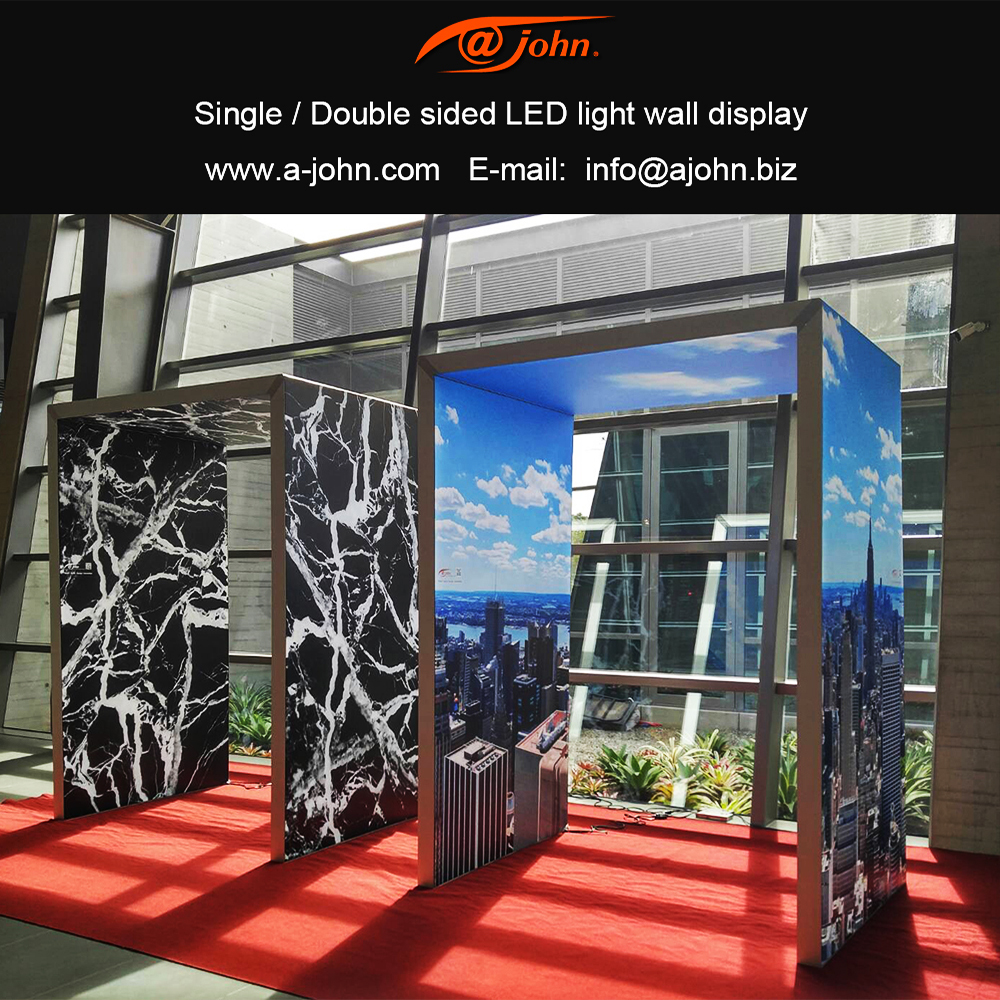 Aluminum Frameless Fabric wrapping wall advertisement Display