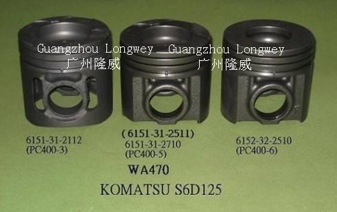 Auto Parts Piston S6D125 Komatsu