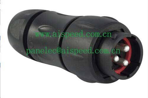 Souriau UTS1JC142G1P male connector (Male in line receptacle with backshell )