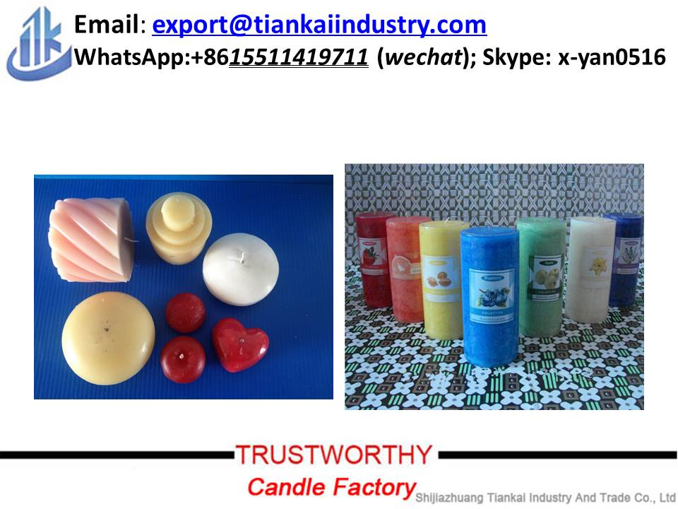 scented multi-colored pillar shaped votive aromatic candles