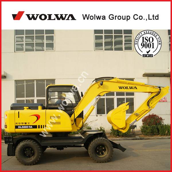 good quality 7600kg wheel excavator